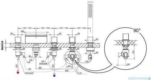 Ravak Wave bateria wannowa wodospad X070060