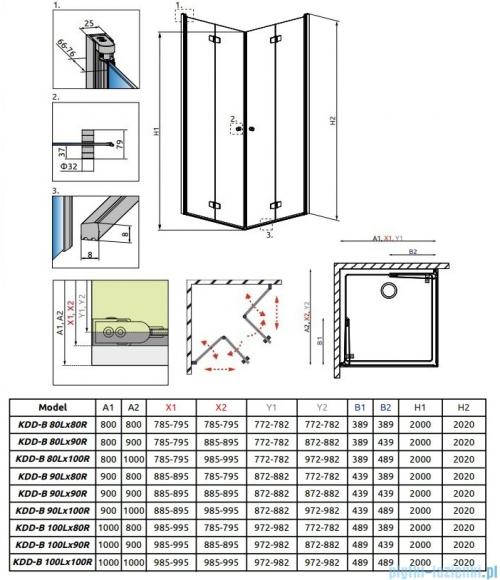 Radaway Fuenta New Kdd-B kabina 90cm część prawa szkło przejrzyste 384071-01-01R