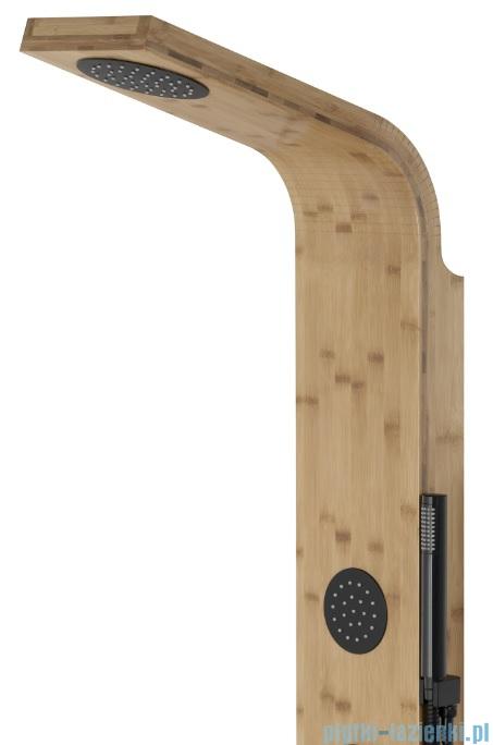 Corsan Bali panel prysznicowy z mieszaczem czarnym drewno bambusowe B-231MC