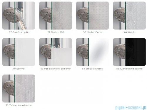 SanSwiss Top-Line Ted2 Wejście narożne 75cm profil srebrny Lewe TED2G07500107