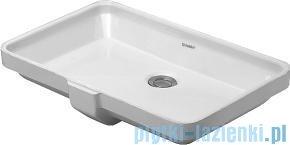 Duravit 2nd floor umywalka podblatowa z przelewem bez półki na baterię 525x350 mm 031653 00 00