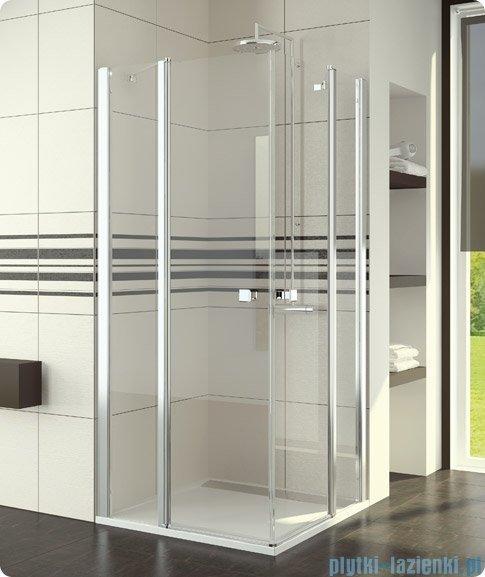 SanSwiss Swing Line SLE2 Wejście narożne 80cm profil srebrny Prawe SLE2D08000107