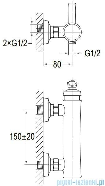 Omnires Armance bateria prysznicowa chrom AM5240CR
