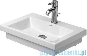 Duravit 2nd floor umywalka mała bez przelewu z otworem na baterię 500x400 mm 079050 00 00