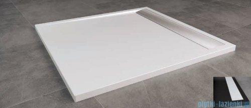 SanSwiss Ila WIQ Brodzik kwadratowy 80x80cm kolor czarny/biały WIQ08004154