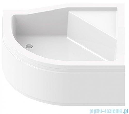 New Trendy Maxima brodzik asymetryczny z podwyższonym siedziskiem 100x80x38,5 cm prawy