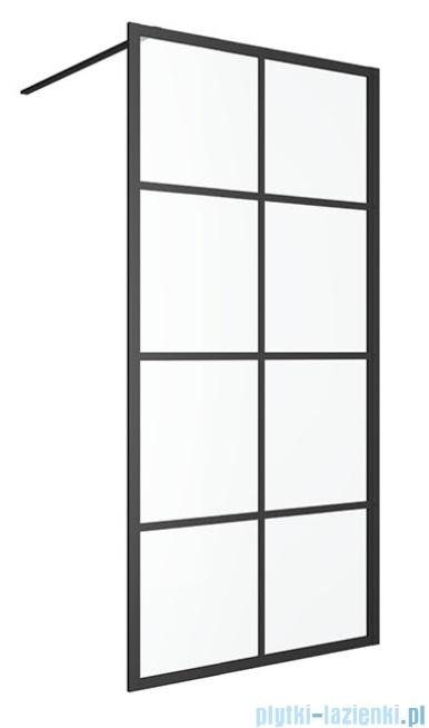 Excellent Fabrika ścianka Walk In czarny mat 120x200 cm