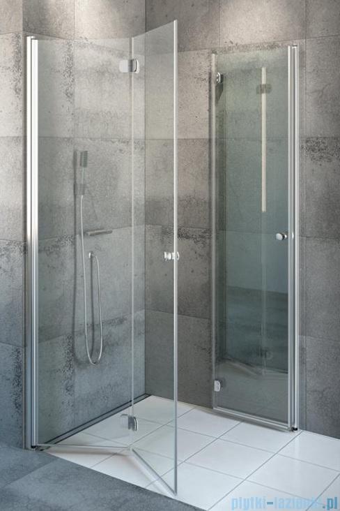 Radaway Eos KDD-B kabina prysznicowa 100x80 przejrzyste bez listwy progowej