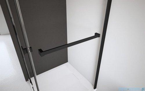Radaway Furo Black DWD drzwi prysznicowe 130cm szkło przejrzyste 10108363-54-01/10111317-01-01