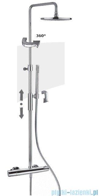 Paffoni Fonte Birillo King Kolumna prysznicowa z baterią termostatyczną chrom ZCOL646CR