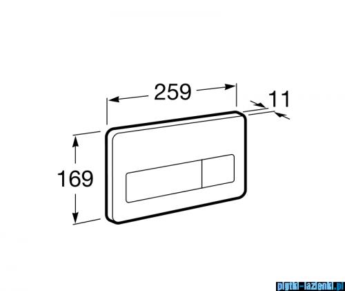 Roca PL3 przycisk elektroniczny antywandal inox A890097400