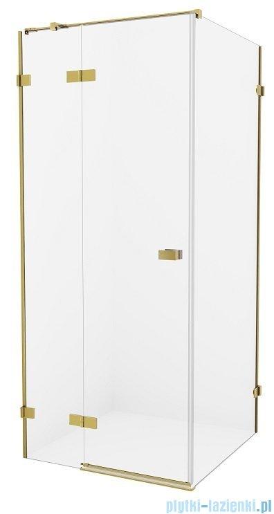 New Trendy Avexa Gold kabina prostokątna 110x120x200 cm przejrzyste lewa EXK-1874