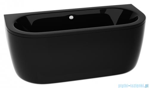 Besco Vista black wanna 160x75cm wolnostojąca przyścienna czarna z syfonem #WKV-160-WSCZARNA