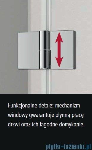 Kermi Osia wejście narożne, jedna połowa, prawa, szkło przezroczyste OsiaClean, profil srebro 90cm OSESR09020VPK
