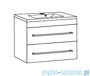 Antado Variete ceramic szafka z umywalką ceramiczną 2 szuflady 62x43x50 czarny połysk 670921/667549