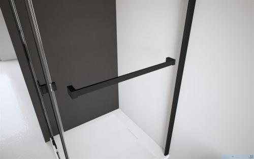 Radaway Idea Black Pnj parawan nawannowy 60cm L/P przejrzyste wieszak na ręcznik