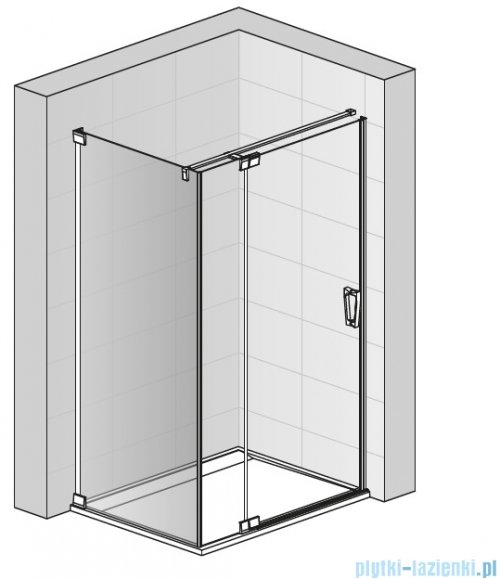 SanSwiss Cadura White Line ścianka boczna 75x200cm profile biały mat CAT30750907