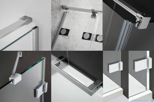 Radaway Euphoria KDJ Kabina prysznicowa 80x90 prawa szkło przejrzyste 383512-01R/383241-01R/383050-01