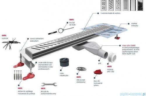 Wiper New Premium Tivano Odpływ liniowy z kołnierzem 60 cm szlif