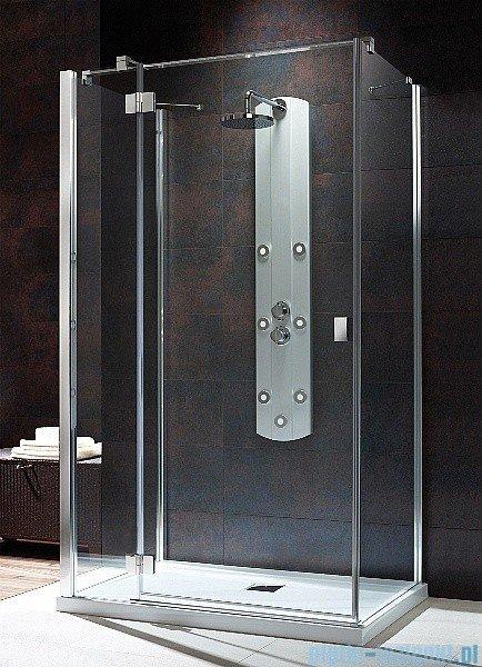 Radaway Kabina prysznicowa Essenza KDJ+S 90x100x90 lewa szkło przejrzyste + brodzik Doros D + syfon