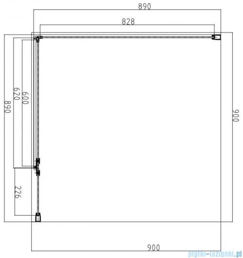 Omnires Manhattan kabina kwadratowa 90x90cm szkło przejrzyste MH9090CRTR