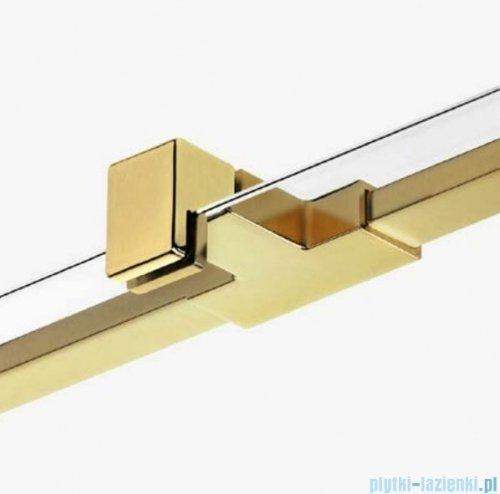 New Trendy Avexa Gold drzwi wnękowe 130x200 cm przejrzyste lewa EXK-1724