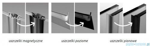 Radaway Furo Black KDJ RH kabina 100x120cm lewa szkło przejrzyste 10104492-54-01LU/10110510-01-01/10113120-01-01