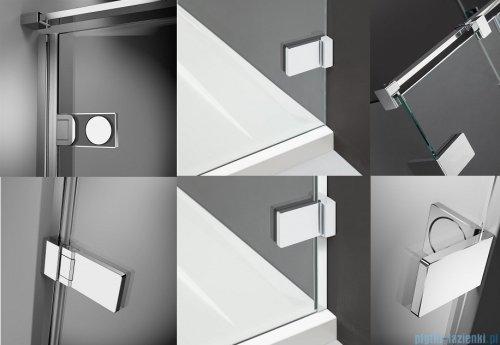 Radaway Arta Kds I kabina 120x80cm lewa szkło przejrzyste + brodzik Doros D + syfon detale