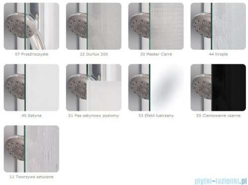 SanSwiss Pur PUR2 Drzwi 2-częściowe wymiar specjalny profil chrom szkło Pas satynowy PUR2SM11051