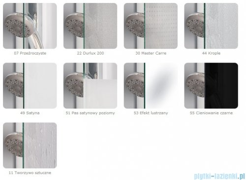SanSwiss Top-Line TOPS3 Drzwi 3-częściowe 75cm profil biały TOPS307500407