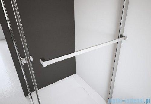 Radaway Torrenta Kdj Kabina prysznicowa 90x100 prawa szkło przejrzyste + brodzik Doros D + syfon wieszak na ręcznik