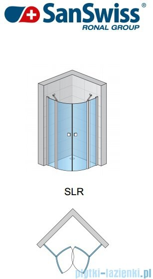 SanSwiss Swing Line SLR Kabina półokrągła 90cm profil połysk SLR5509005007