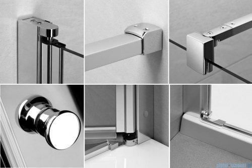 Kabina prysznicowa Radaway Eos KDJ-B 80x100 prawa szkło przejrzyste detale