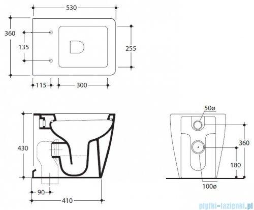 Kerasan Ego miska WC stojąca 53 cm 3216