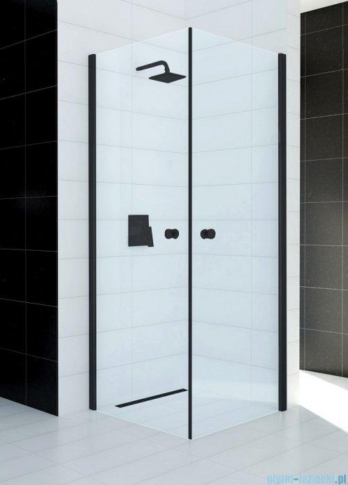 Sea Horse Fresh Line Black kabina natryskowa narożna kwadratowa 90x90cm przejrzyste BKP122TK