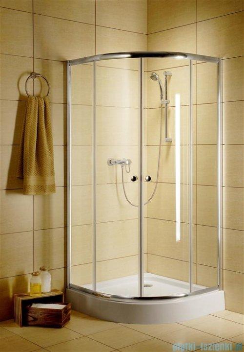 Radaway Classic A Kabina prysznicowa półokrągła z drzwiami przesuwnymi 90x90x185 szkło satinato profile białe