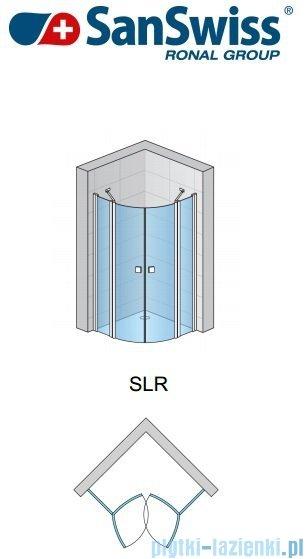 SanSwiss Swing Line SLR Kabina półokrągła 100-120cm profil srebrny SLR55SM20107