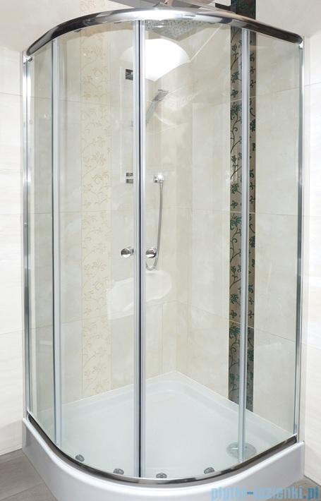 Omnires Bronx kabina asymetryczna 100x80cm szkło przejrzyste