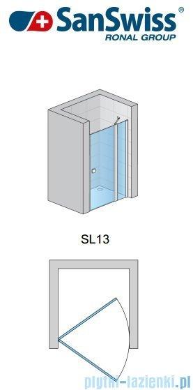 SanSwiss Swing Line SL13 Drzwi prysznicowe 90cm profil srebrny SL1309000107