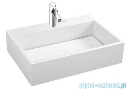 Marmorin Modico 800 umywalka nablatowa  bez otworu 80x43 biała 350080020010