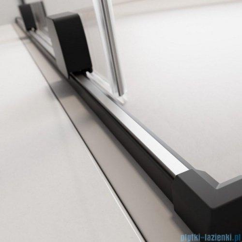 Radaway Furo Black PND II parawan nawannowy 140cm prawy szkło przejrzyste 10109738-54-01R/10112694-01-01