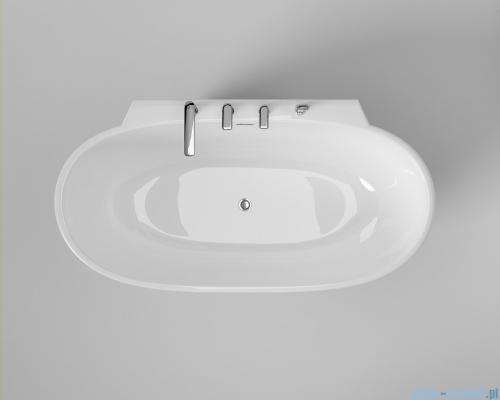 ScandiBath Mandal wanna wolnostojąca/przyścienna 150x77cm+ syfon klik-klak wizualizacja wanna stojąca