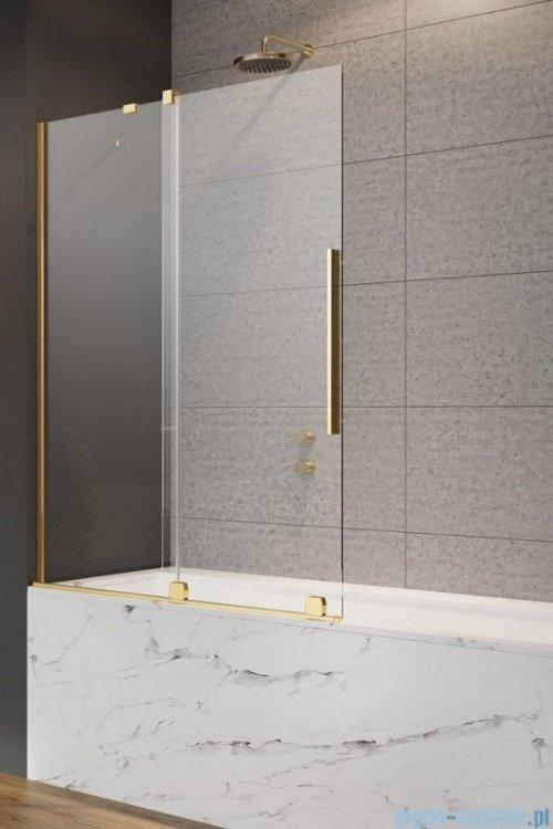 Radaway Furo Gold PND II parawan nawannowy 120cm lewy szkło przejrzyste 10109638-09-01L/10112594-01-01