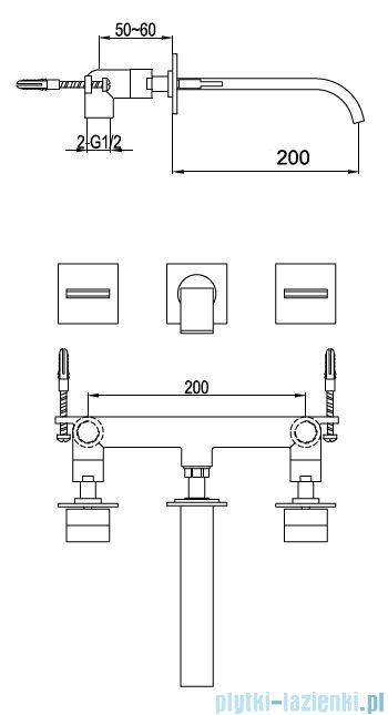 Kohlman Axis podtynkowa bateria umywalkowa QW193N