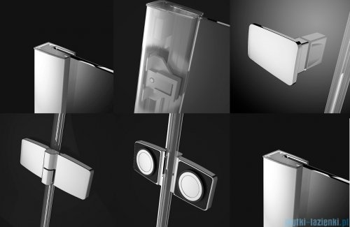Radaway Fuenta New Kdj+S kabina 90x90x90cm lewa szkło przejrzyste + brodzik Doros C + syfon