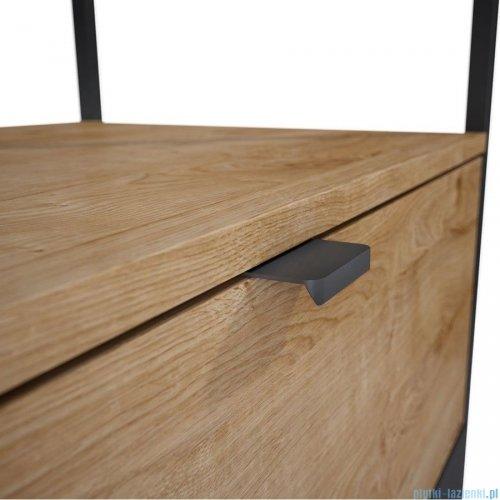 Elita Indus szafka podumywalkowa w stylu Loft 120x81x45cm black/canela oak 168434