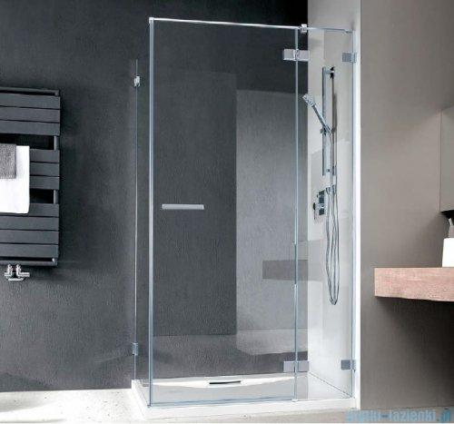 Radaway Euphoria KDJ Kabina prysznicowa 100x100 prawa szkło przejrzyste + brodzik Delos C + syfon