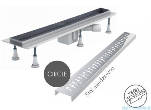 Schedpol odpływ liniowy z maskownicą Circle 60x8x9,5cm OLCE60/ST
