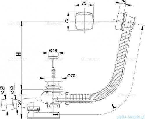 Alcaplast  syfon wannowy automatyczny chrom A51CR