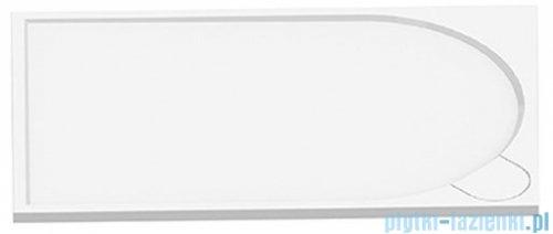 New Trendy Fluo brodzik prostokątny z konglomeratu 120x80x3 cm